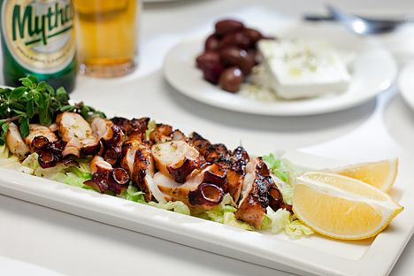 Grilled Octopus Greek Cuisine